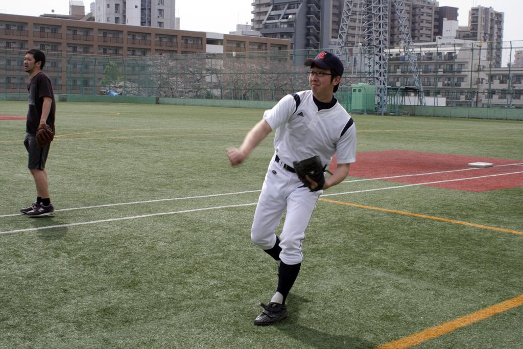野球を教えるのが古矢さん