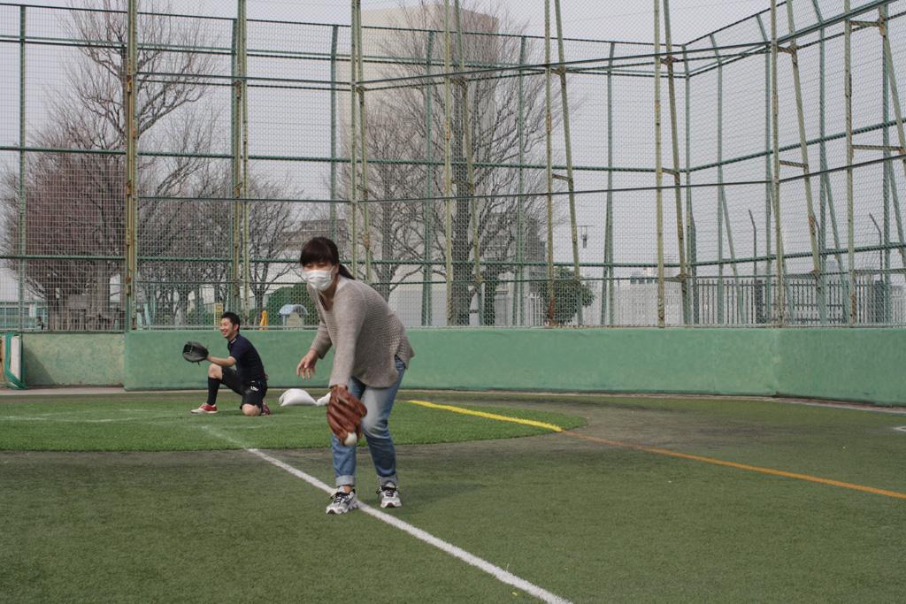 ライター小沼さんもキャッチボール